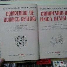 Libros de segunda mano de Ciencias: LMV - COMPENDIO DE FISICA GENERAL. V. ALEIXANDRE / A. MINGARRO. Lote 183419205