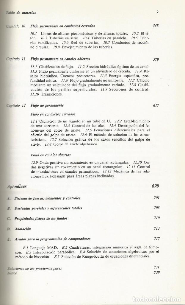 Libros de segunda mano de Ciencias: Mecánica de los fluidos. Streeter-Wylie. 6a. Edición. - Foto 3 - 183855792