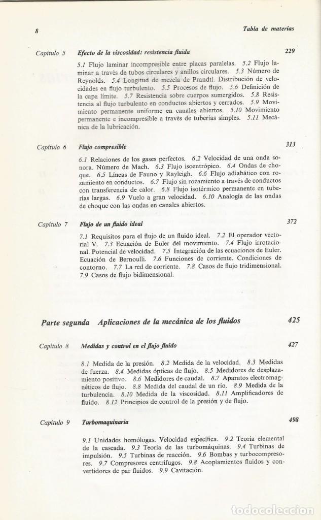 Libros de segunda mano de Ciencias: Mecánica de los fluidos. Streeter-Wylie. 6a. Edición. - Foto 4 - 183855792
