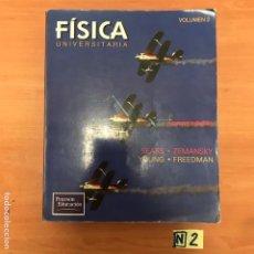 Libros de segunda mano de Ciencias: FÍSICA UNIVERSITARIA. Lote 183856880