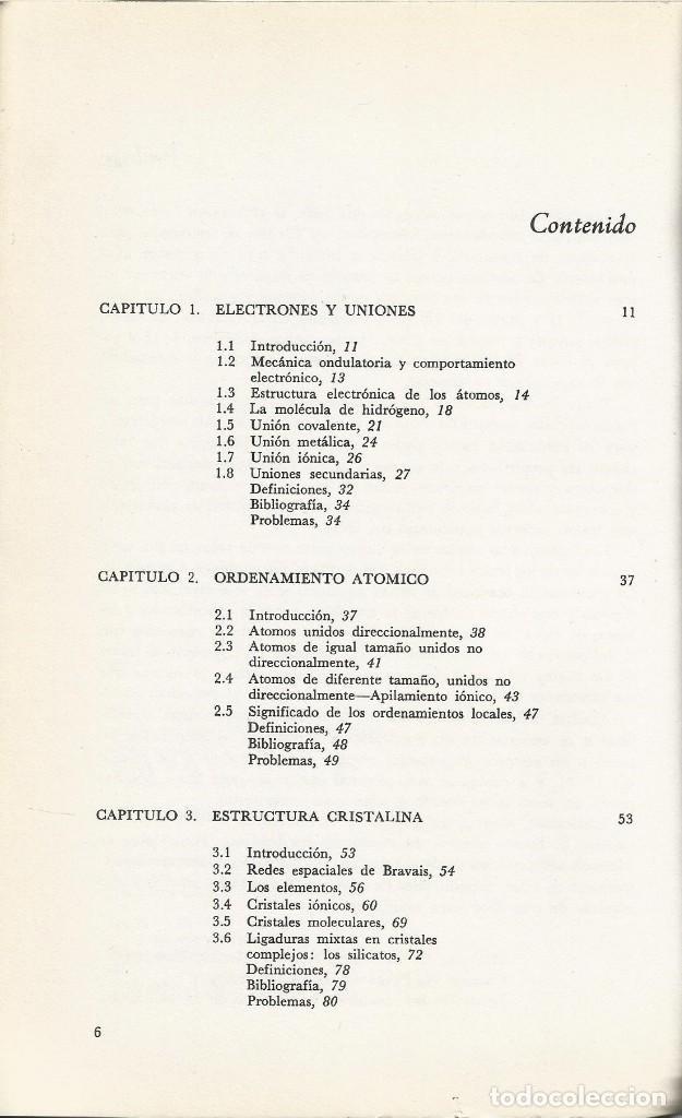 Libros de segunda mano de Ciencias: Ciencia de los materiales. 3 tomos. W. Moffatt-G. Pearsall-J. Wulff. - Foto 3 - 183857123