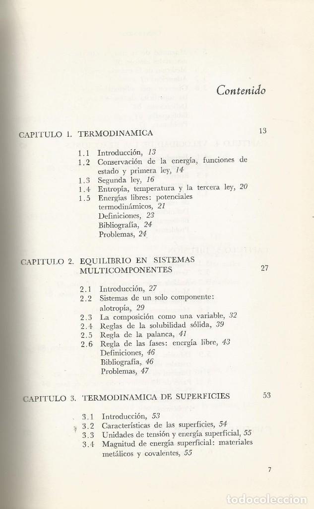 Libros de segunda mano de Ciencias: Ciencia de los materiales. 3 tomos. W. Moffatt-G. Pearsall-J. Wulff. - Foto 7 - 183857123