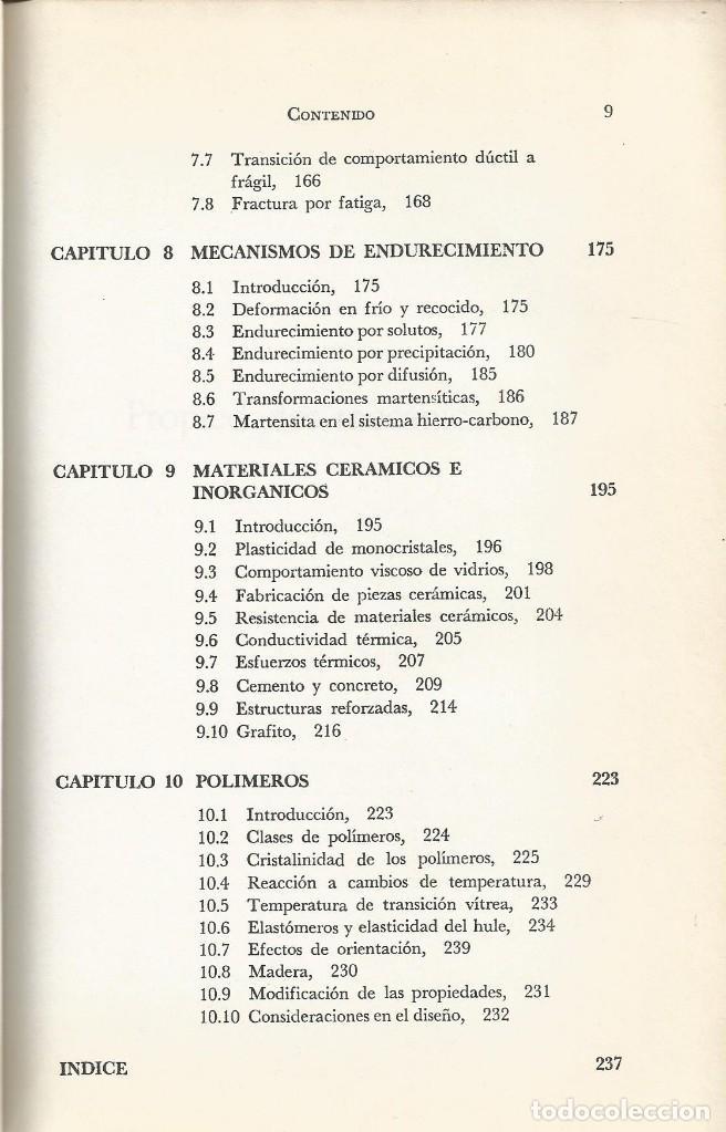 Libros de segunda mano de Ciencias: Ciencia de los materiales. 3 tomos. W. Moffatt-G. Pearsall-J. Wulff. - Foto 12 - 183857123