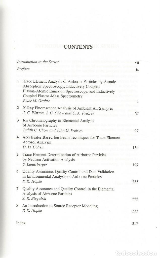 Libros de segunda mano de Ciencias: Análisis elemental de partículas aerotransportadas. Scheldon Landsberger-Marscha Creatchman. - Foto 2 - 183858383
