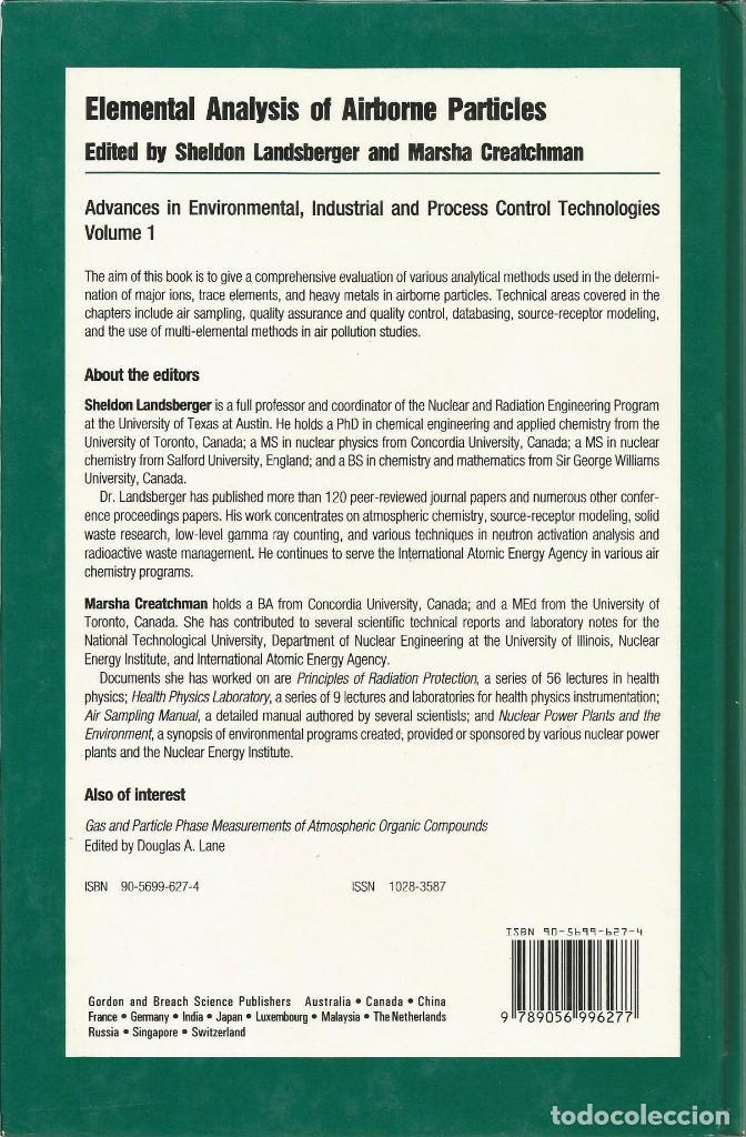 Libros de segunda mano de Ciencias: Análisis elemental de partículas aerotransportadas. Scheldon Landsberger-Marscha Creatchman. - Foto 3 - 183858383