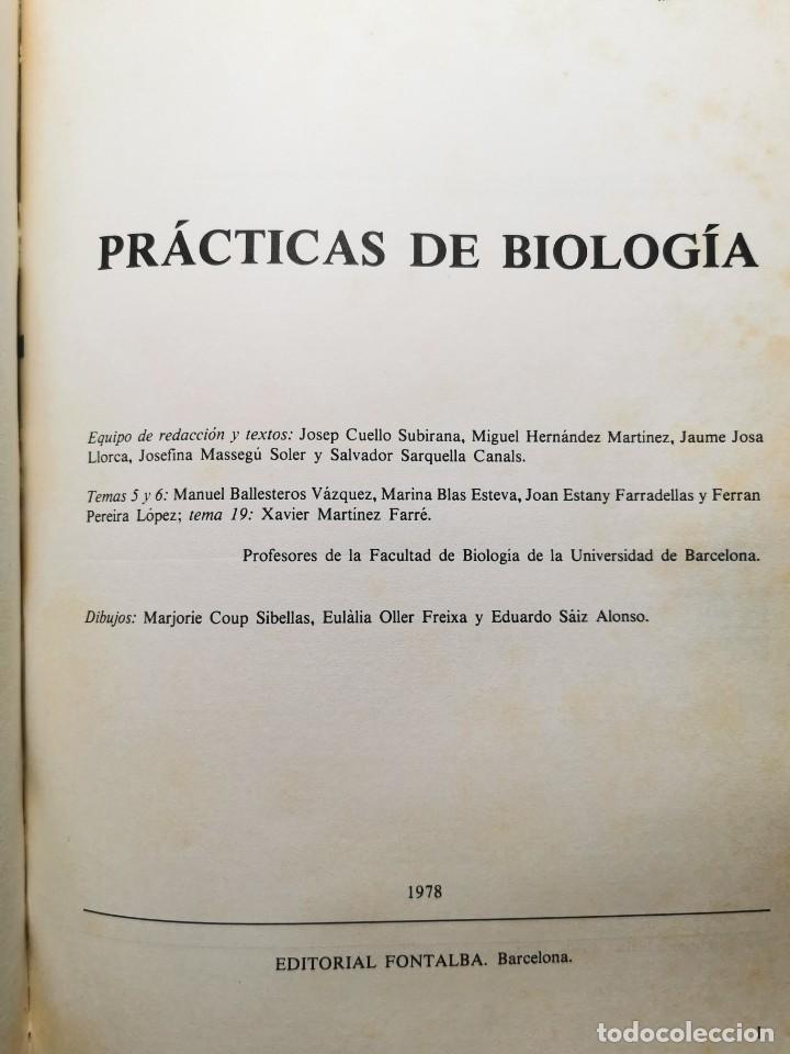 Libros de segunda mano: PRACTICAS DE BIOLOGIA (Varios autores) - Foto 2 - 183867056