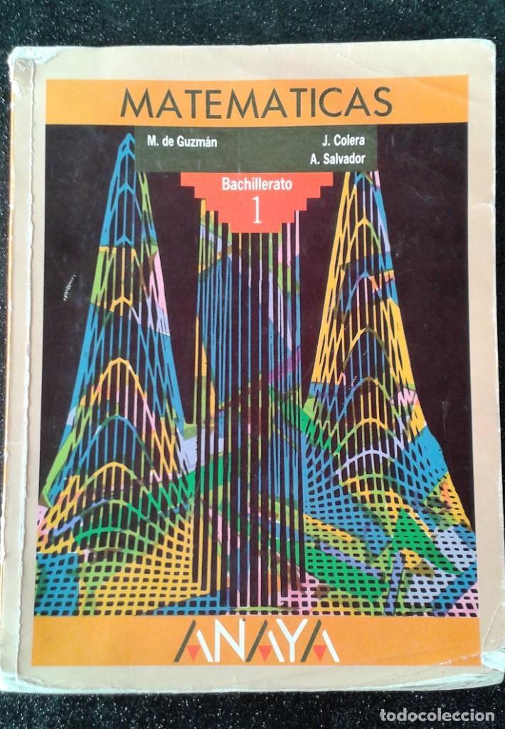 MATEMÁTICAS 1 BACHILLERATO ANAYA (Libros de Segunda Mano - Ciencias, Manuales y Oficios - Física, Química y Matemáticas)