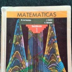 Libros de segunda mano de Ciencias: MATEMÁTICAS 1 BACHILLERATO ANAYA . Lote 183881838