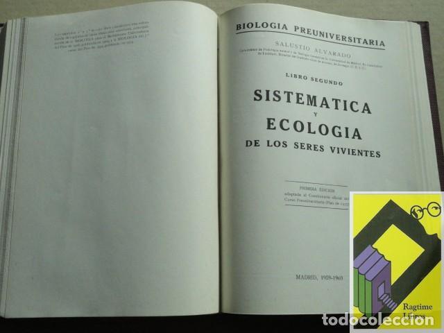 Libros de segunda mano: ALVARADO, Salustio: Biologia Preuniversitaria. ... - Foto 4 - 183894843