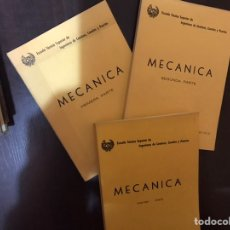 Libros de segunda mano de Ciencias: MECÁNICA. PRIMERA, SEGUNDA Y TERCERA PARTE. JOSÉ ANTONIO VIEJO. Lote 183918832