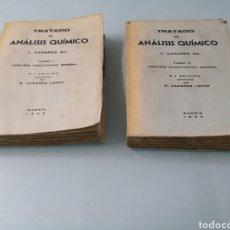 Libros de segunda mano de Ciencias: TRATADO ANALISIS QUÍMICO. R. CASARES LOPEZ. MADRID, 1948-49. CON DEDICATORIA DEL AUTOR A MI ABUELO.. Lote 184085366