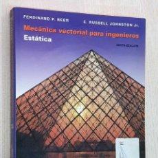 Libri di seconda mano: MECÁNICA VECTORIAL PARA INGENIEROS. ESTÁTICA - BEER P. FERDINAND - RUSSELL JOHNSTON, E. JR. Lote 184124533