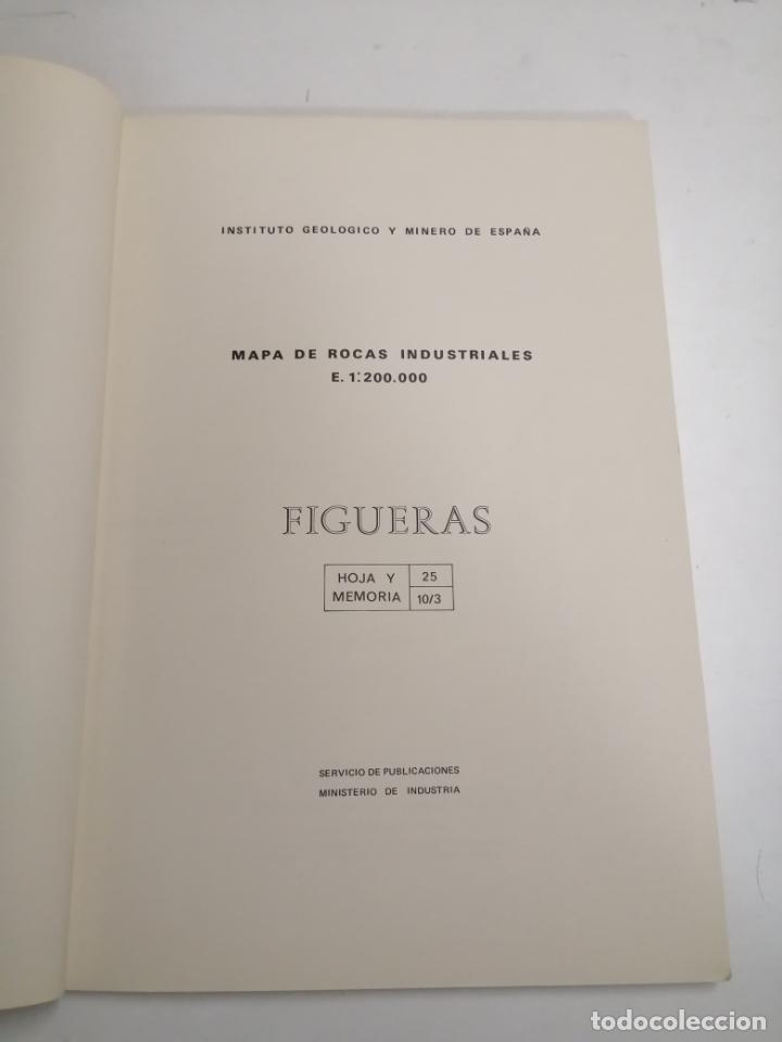 Libros de segunda mano: Mapa de las rocas industriales. Figueras. Instituto geologico y minero de España. 1974 Madrid - Foto 2 - 184344092