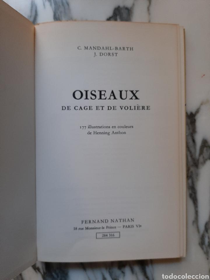 Libros de segunda mano: OISEAUX DE CAGE ET DE VOLIÈRE - C. MANDAHL-BARTH Y J. DORST - 1973 - Foto 2 - 184716555