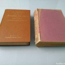 Libros de segunda mano de Ciencias: TRATADO ANÁLISIS QUÍMICO. TOMO I Y II. JOSÉ CASARES. ED. VICTORIANO SUÁREZ. 1933,1935. 4A EDICCIÓN.. Lote 185698701