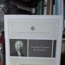 Libros de segunda mano de Ciencias: LAVOISIER: TRATADO ELEMENTAL DE QUIMICA, (CRITICA, 2007).. Lote 185906530