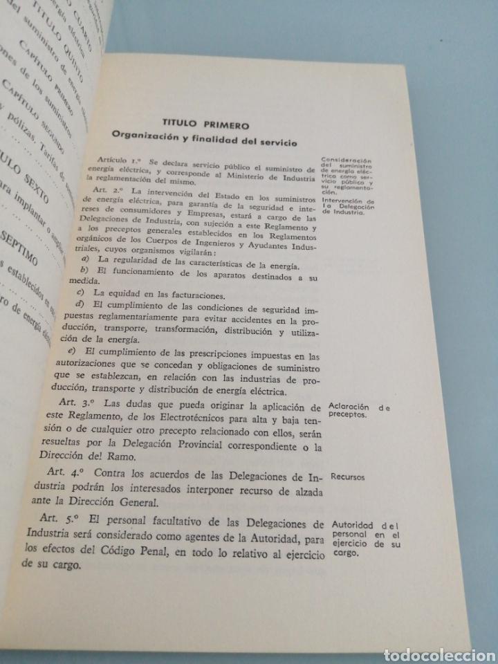 Libros de segunda mano de Ciencias: REGLAMENTO DE VERIFICACIONES ELÉCTRICAS Y REGULARIDAD EN EL SUMINISTRO DE ENERGÍA. MADRID, 1954. - Foto 3 - 186131188