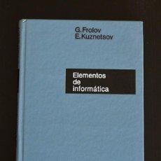 Libros de segunda mano de Ciencias: ELEMENTOS DE INFORMÁTICA. Lote 187389986