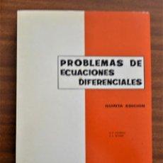 Libros de segunda mano de Ciencias: PROBLEMAS DE ECUACIONES DIFERENCIALES. ALEXA. R.A.E.C.. Lote 187527676