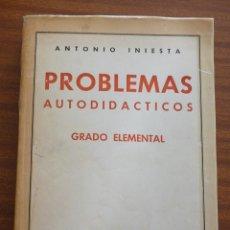 Libros de segunda mano de Ciencias: PROBLEMAS AUTODIDACTICOS. GRADO ELEMENTAL. Lote 187530546