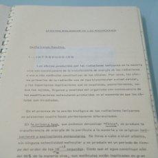 Libros de segunda mano de Ciencias: EFECTOS BIOLÓGICOS DE LAS RADIACIONES. EMILIO IRANZO GONZALEZ. 1981. INSTITUTO TECNOLÓGICO PARA.... Lote 188804653