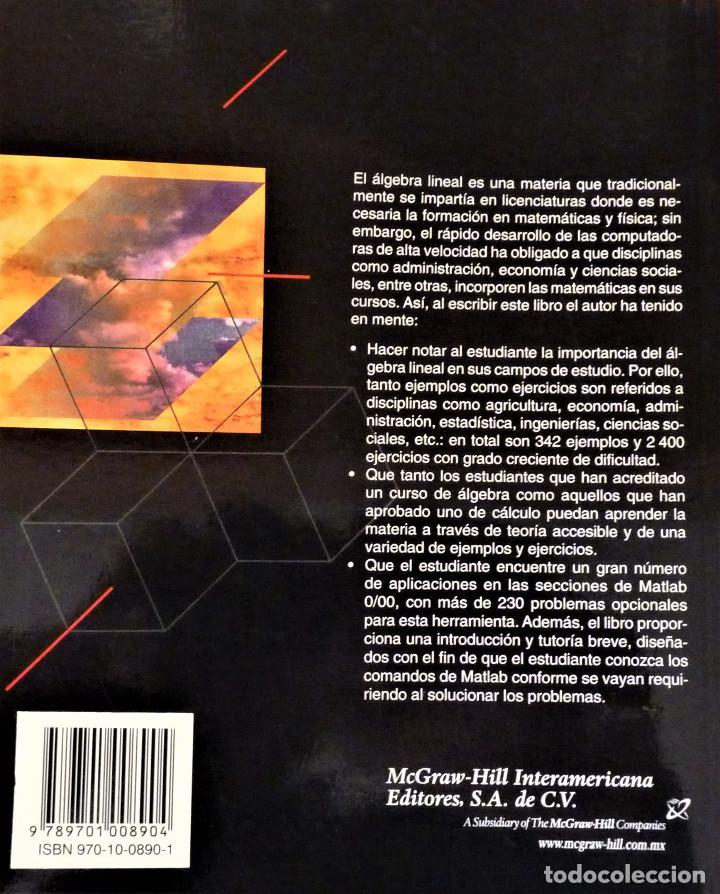 Libros de segunda mano de Ciencias: ALGEBRA LINEAL - STANLEY I. GROSSMAN - MC GRAW HILL - Foto 2 - 189594811