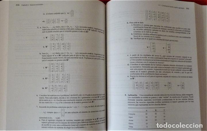 Libros de segunda mano de Ciencias: ALGEBRA LINEAL - STANLEY I. GROSSMAN - MC GRAW HILL - Foto 4 - 189594811