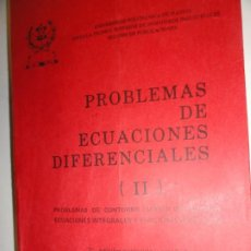 Libros de segunda mano de Ciencias: PROBLEMAS DE ECUACIONES DIFERENCIALES II - JOSÉ GASPAR GONZÁLEZ MONTIEL. Lote 189277568