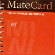 Libros de segunda mano de Ciencias: MATECARD - TODAS LAS FORMULAS MATEMATICAS - CASTELLNOU. Lote 235098905