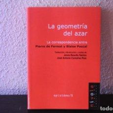 Libri di seconda mano: LA GEOMATRIA DEL AZAR LA CORRESPONDENCIA. Lote 189715727