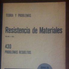 Libros de segunda mano de Ciencias: TEORÍA Y PROBLEMAS DE RESISTENCIA DE MATERIALES. NASH, WILLIAM A. LIBROS MCGRAW HILL 1969. Lote 190140210
