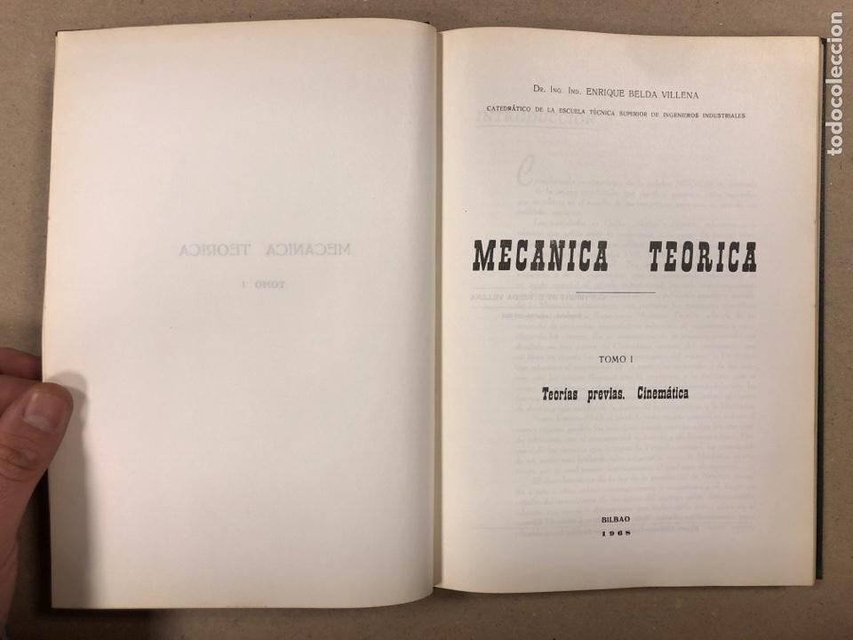 Libros de segunda mano de Ciencias: MECÁNICA TEÓRICA. ENRIQUE BELDA VILLENA. 2 TOMOS. EDITADO POR EL AUTOR 1968. - Foto 3 - 190303317