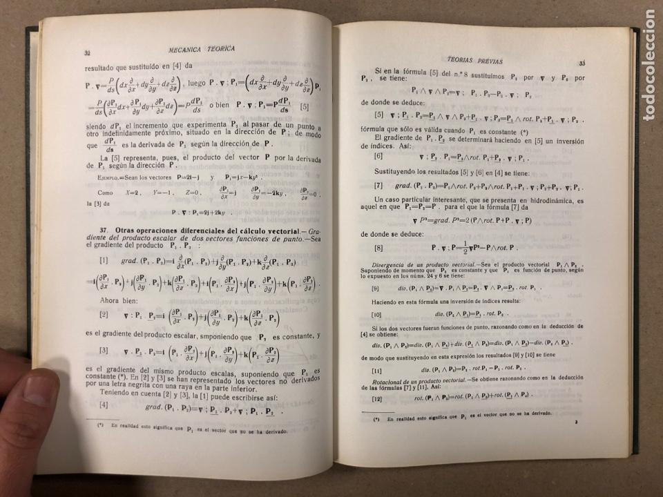 Libros de segunda mano de Ciencias: MECÁNICA TEÓRICA. ENRIQUE BELDA VILLENA. 2 TOMOS. EDITADO POR EL AUTOR 1968. - Foto 4 - 190303317