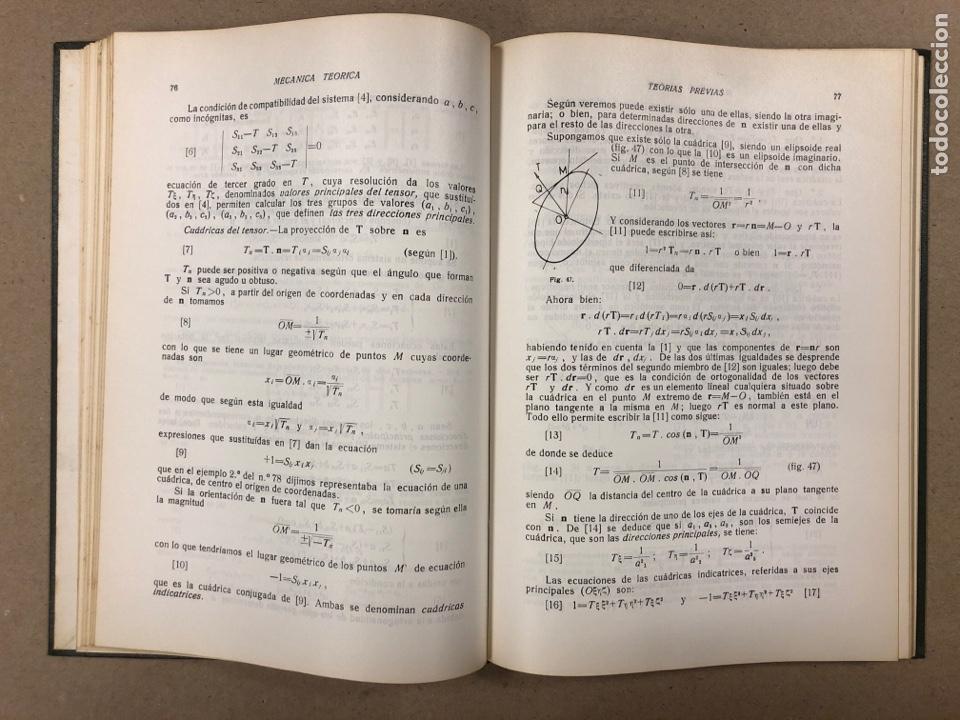 Libros de segunda mano de Ciencias: MECÁNICA TEÓRICA. ENRIQUE BELDA VILLENA. 2 TOMOS. EDITADO POR EL AUTOR 1968. - Foto 5 - 190303317