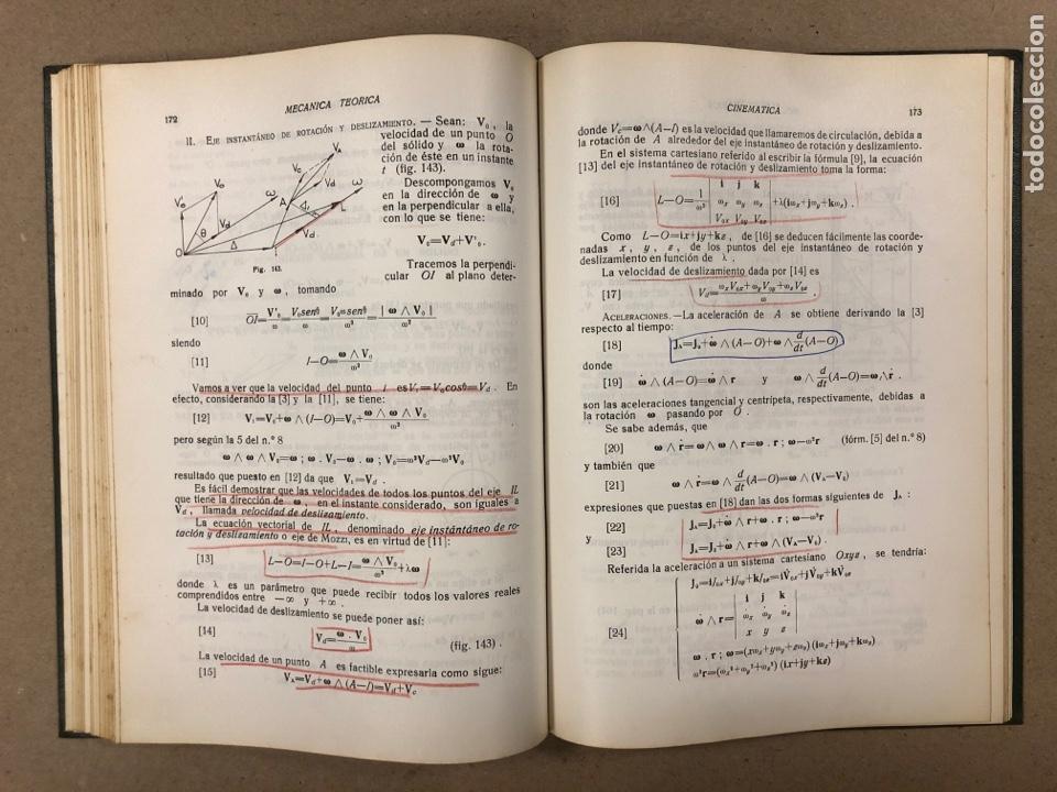 Libros de segunda mano de Ciencias: MECÁNICA TEÓRICA. ENRIQUE BELDA VILLENA. 2 TOMOS. EDITADO POR EL AUTOR 1968. - Foto 6 - 190303317