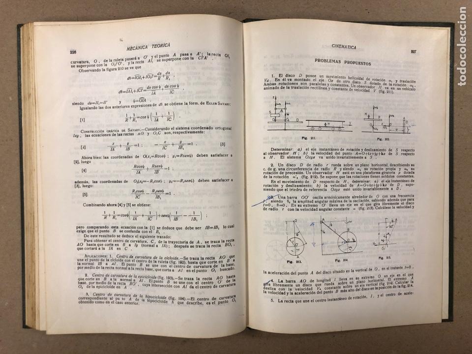 Libros de segunda mano de Ciencias: MECÁNICA TEÓRICA. ENRIQUE BELDA VILLENA. 2 TOMOS. EDITADO POR EL AUTOR 1968. - Foto 7 - 190303317