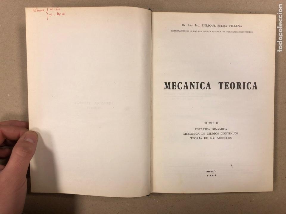 Libros de segunda mano de Ciencias: MECÁNICA TEÓRICA. ENRIQUE BELDA VILLENA. 2 TOMOS. EDITADO POR EL AUTOR 1968. - Foto 10 - 190303317