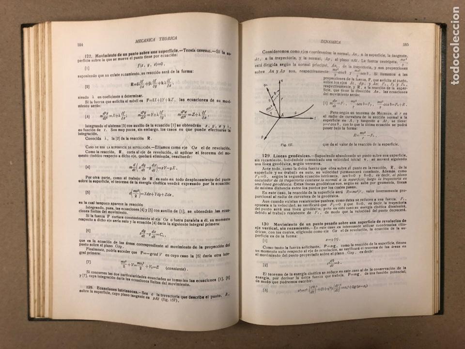 Libros de segunda mano de Ciencias: MECÁNICA TEÓRICA. ENRIQUE BELDA VILLENA. 2 TOMOS. EDITADO POR EL AUTOR 1968. - Foto 13 - 190303317