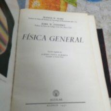Libros de segunda mano de Ciencias: FISICA GENERAL. FRANCIS W. SEARS, MARK W. ZEMANSKY. MADID, 1957. ED. AGUILAR.. Lote 190596040