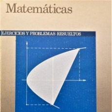 Libros de segunda mano de Ciencias: MATEMATICAS - EJERCICIOS Y PROBLEMAS RESUELTOS - BRUÑO. Lote 190636551