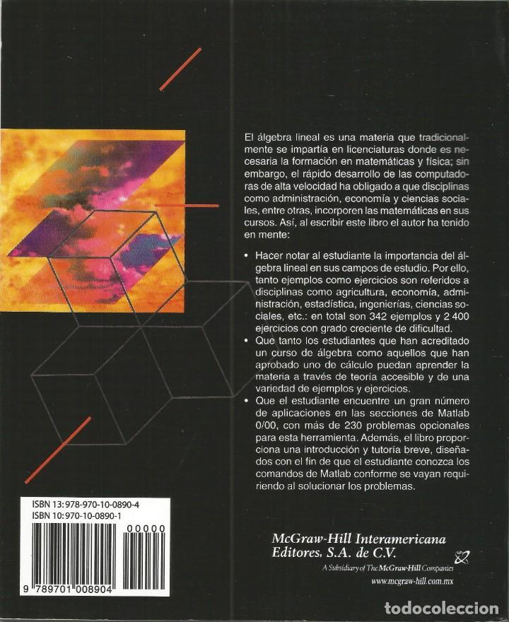 Libros de segunda mano de Ciencias: Álgebra lineal. Stanley Grossman. Quinta edición. - Foto 2 - 190761411