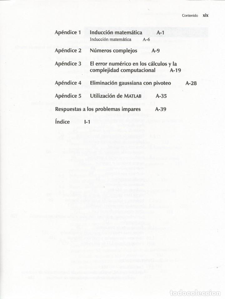 Libros de segunda mano de Ciencias: Álgebra lineal. Stanley Grossman. Quinta edición. - Foto 5 - 190761411