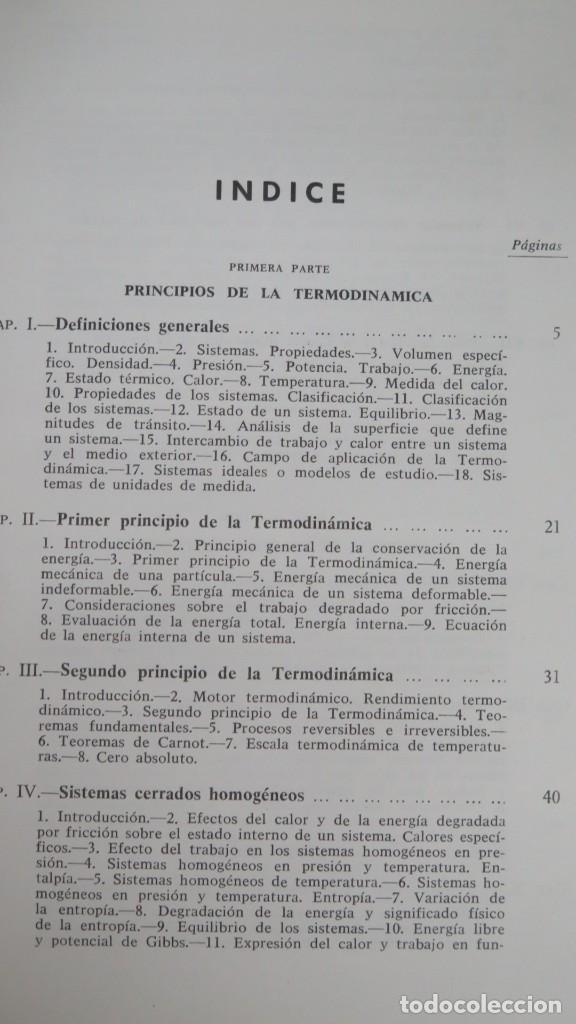 Libros de segunda mano de Ciencias: TERMODINAMICA. P. PEREZ DEL NOTARIO - Foto 2 - 191173923