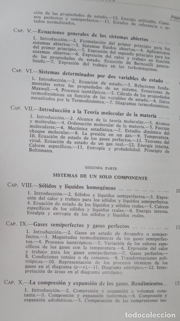 Libros de segunda mano de Ciencias: TERMODINAMICA. P. PEREZ DEL NOTARIO - Foto 3 - 191173923
