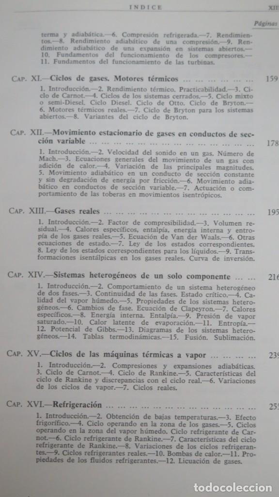 Libros de segunda mano de Ciencias: TERMODINAMICA. P. PEREZ DEL NOTARIO - Foto 4 - 191173923