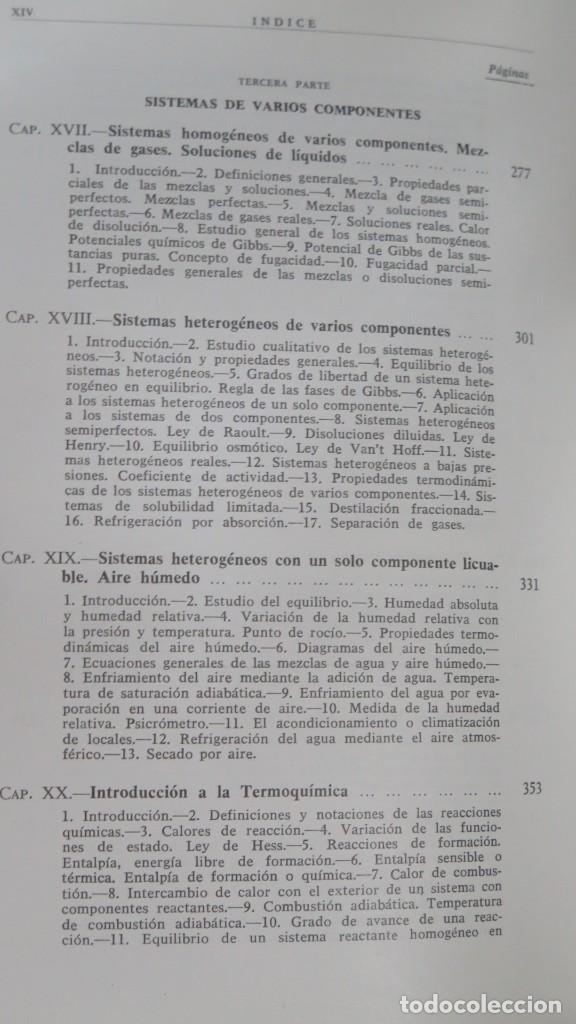 Libros de segunda mano de Ciencias: TERMODINAMICA. P. PEREZ DEL NOTARIO - Foto 5 - 191173923
