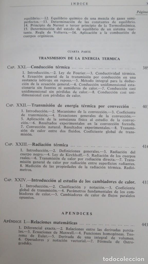 Libros de segunda mano de Ciencias: TERMODINAMICA. P. PEREZ DEL NOTARIO - Foto 6 - 191173923