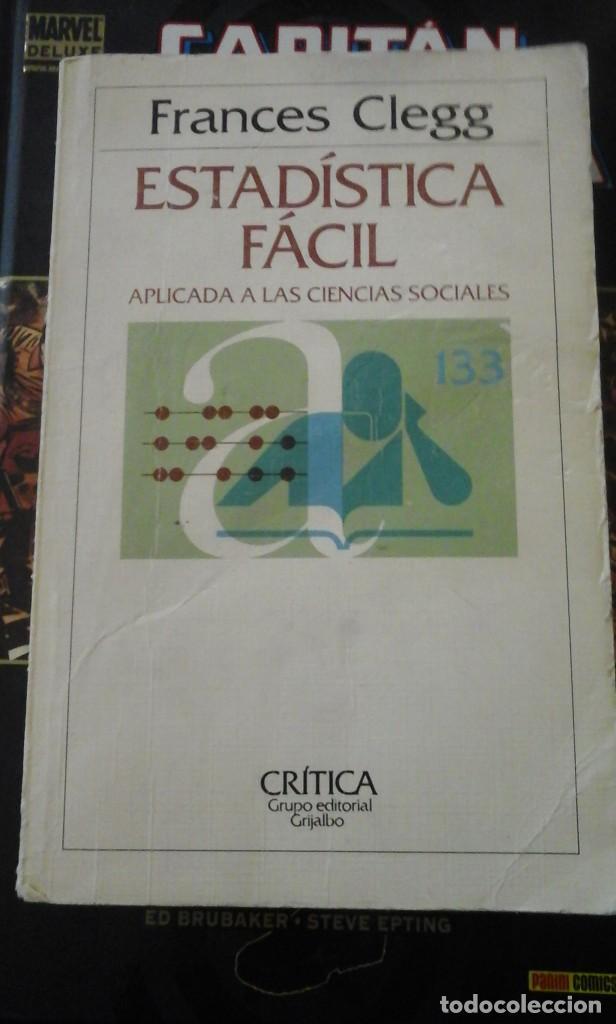 ESTADÍSTICA FÁCIL APLICADA A LAS CIENCIAS SOCIALES (BARCELONA, 1984) (Libros de Segunda Mano - Ciencias, Manuales y Oficios - Física, Química y Matemáticas)