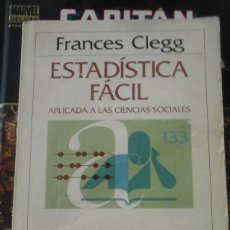 Libros de segunda mano de Ciencias: ESTADÍSTICA FÁCIL APLICADA A LAS CIENCIAS SOCIALES (BARCELONA, 1984). Lote 191191711
