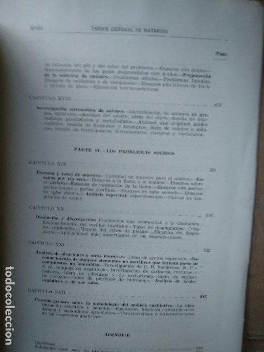 Libros de segunda mano de Ciencias: Química analítica cualitativa - Burriel, Lucena y Arribas - Ed. Paraninfo - Foto 3 - 191200317